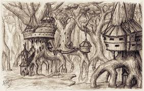 giant swamp tree village by snoeffel on deviantart