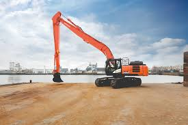 presenting the new zx300lcn 6 super long front excavator hitachi