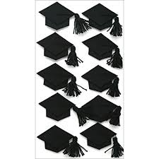 graduation cap stickers jolee s boutique dimensional stickers black