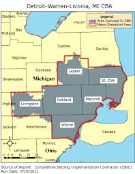 michigan area code map cbic 2 competitive bidding area detroit warren livonia