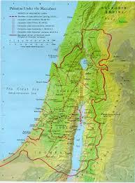 Map Israel Maccabees Revolt Hanukkah Israel Map