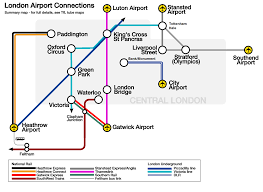 Mco Terminal Map Carte Des Transports Vers Les Aeroports Heathrow Gatwick