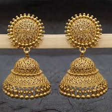 new jhumka earrings new women s fashion gold plated handmade stud jhumka earrings for