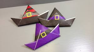 halloween witch craft origami halloween witch hat print your own paper youtube