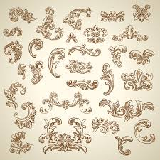 vintage ornaments with corners vector free millions vectors