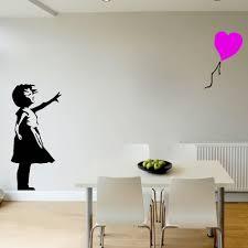 aliexpress com buy banksy girl colour balloon large bedroom wall aliexpress com buy banksy girl colour balloon large bedroom wall mural transfer art sticker vinyl home decor wall sticker from reliable wall sticker