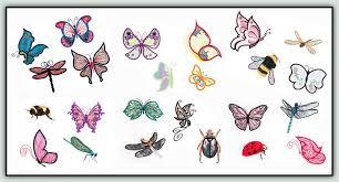 applique elements butterflies and
