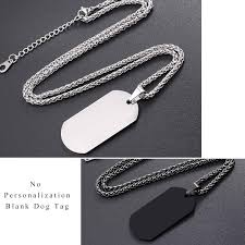 mens personalized dog tags u7 personalized dog tag necklace wedding date name id men jewelry