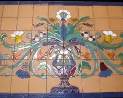Ceramic Tile Mural Backsplash by Tile Mural Etsy