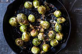 How To Roast Garlic In Toaster Oven Roasted Brussels Sprouts Recipe Simplyrecipes Com