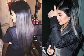 jenner hair extensions jenner goes grey gray ombre gray hair and