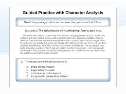 character analysis ela7r1 the student demonstrates comprehension