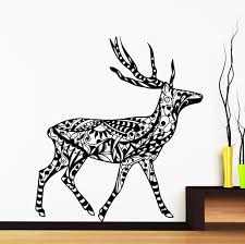 deer silhouette picture more detailed picture about creative creative designed tribal wall stickers home livingroom special decorative wall mural deer silhouettes african style decal