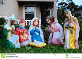 the birth of baby jesus christ statue royalty free stock photo