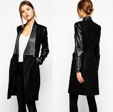 winter jacket women gagaopt pu leather long coat european style