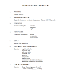 Counseling Treatment Plan Goals Sle Treatment Plan Template 7 Free Documents In Pdf