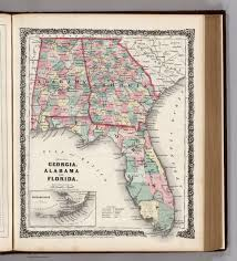 Map Of Florida And Georgia by Georgia Alabama And Florida David Rumsey Historical Map