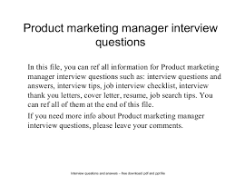 interview questions for marketing job product marketing manager interview questions 1 638 jpg cb u003d1402696068