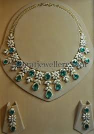 elegant necklace set images Unique yet elegant diamond emerald set jewelry pinterest jpg