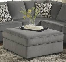 Loric Smoke Square Cocktail Ottoman With Storage & Removable Top