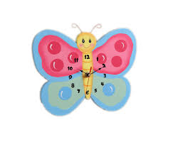 accessories captivating red butterfly kid clocks as wall