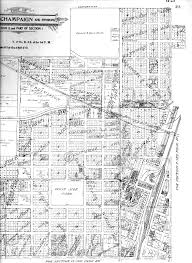 Champaign Illinois Map by Ahtc Turn Of The Century Images