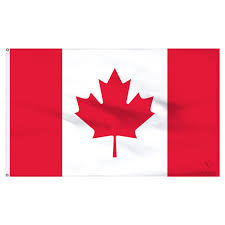 canada 3x5ft nylon flag with pole hem only banner