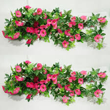 Silk Flowers Wholesale Artificial Silk Flower Rattan Twigs Wall Hanging Morning Glory