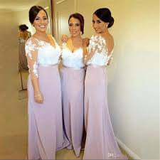 dresses for bridesmaids 2018 lilac sleeve mermaid bridesmaid dresses button covered