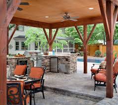 custom outdoor kitchen under open porch archadeck outdoor living