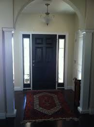 repainted black front door interior black paint adding class