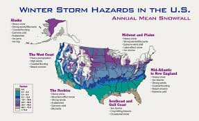 Usa Snow Map by The Astral Newz Today