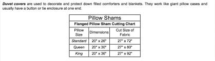 Duvet Cover Size Chart Edge To Edge Quilting Inc Useful Charts