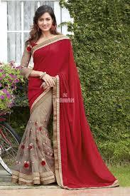 color designer red color designer party wear saree