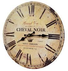 Pendules Murales Cuisine horloge murale pendule ronde de cuisine ou salon en bois et papier
