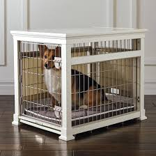Dog Crate Furniture Bench Luxury Mahogany Pet Residence Dog Crate Frontgate