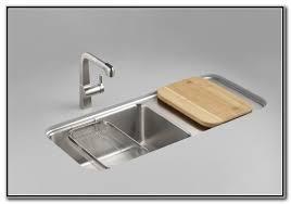 Kitchen Sinks With Drainboard by Kitchen Sinks With Drainboard Built In Sink And Faucets Home
