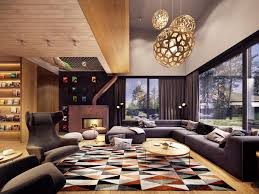 Rustic Home A Creative Rustic Home With Retro Geometric Features