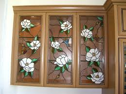 stained glass cupboard doors finest quality custom designed cabinet stained glass by sans