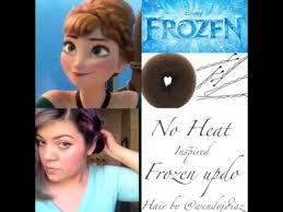 tutorial kepang rambut frozen frozen updo youtube