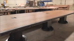 Vintage Conference Table Vintage Industrial Desk And Conference Table