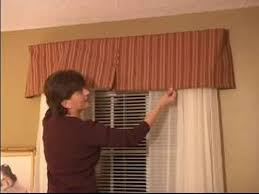 How To Make A Pelmet Valance How To Sew Curtains How To Install Valance Using L Brackets
