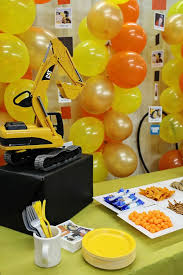 Construction Party Centerpieces by Construction Party Ideas The Ultimate Boy Party Pear Tree Blog
