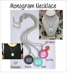 monogram acrylic necklace monogram acrylic 1 5 necklace about me blanks online