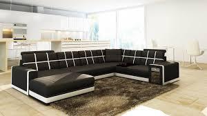 canap cuir noir et blanc cuir noir blanc
