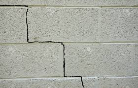 in a cinder block building foundation stock photo picture