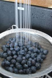 how to seal butcher block countertops with food safe treatment rinsing fresh blueberries for my blueberry shortcake