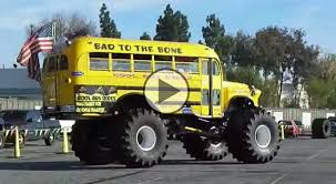 bus monster truck videos bad to the bone bus monster truck