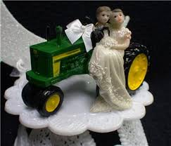 deere cake toppers country western deere tractor wedding cake topper farmer barn