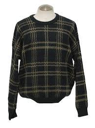 plaid sweater 1980 s vintage windridge sweater 80s windridge mens navy blue